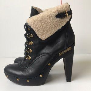 BCBGeneration 'Melo' Faux Fur Leather Bootie 9B